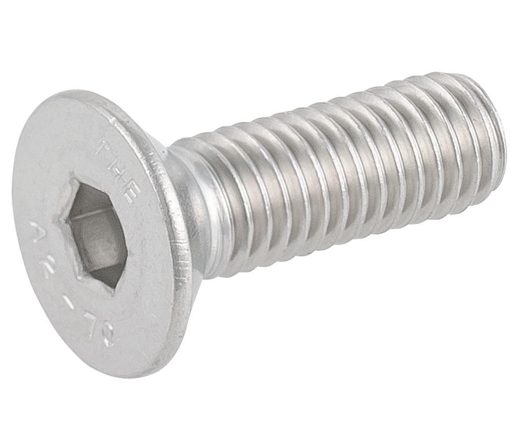 Easyfix Countersunk Head Socket Screws A2 Stainless Steel M8 x 25mm 50 Pack