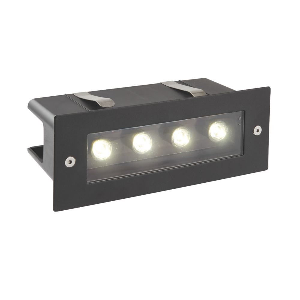 Saxby Seina Outdoor  Recessed LED Brick Light Black 4W 420lm