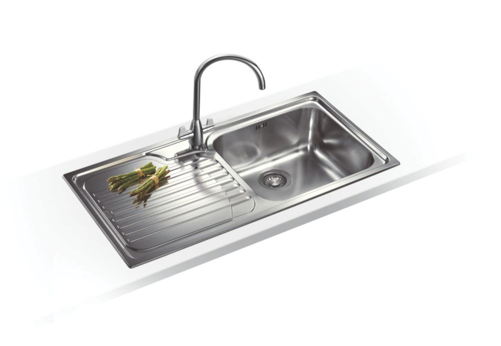 Franke Galassia Inset Kitchen Sink Stainless Steel 1 Bowl 1000 x 500mm