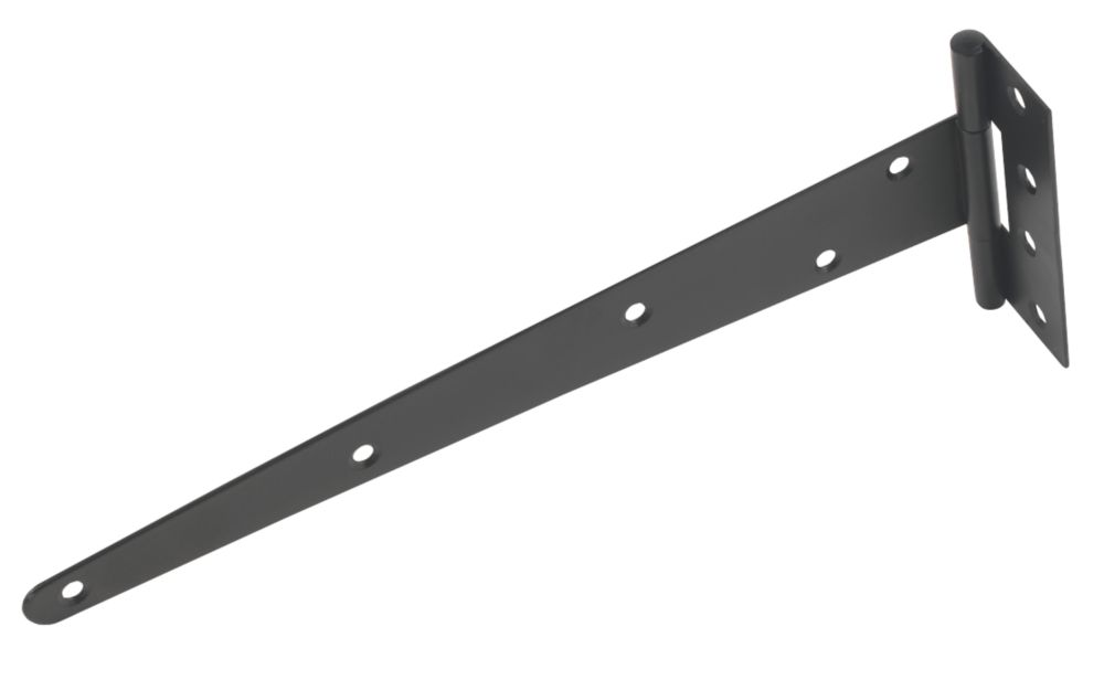 Black Powder-Coated Medium Duty Tee Hinge 305mm 2 Pack