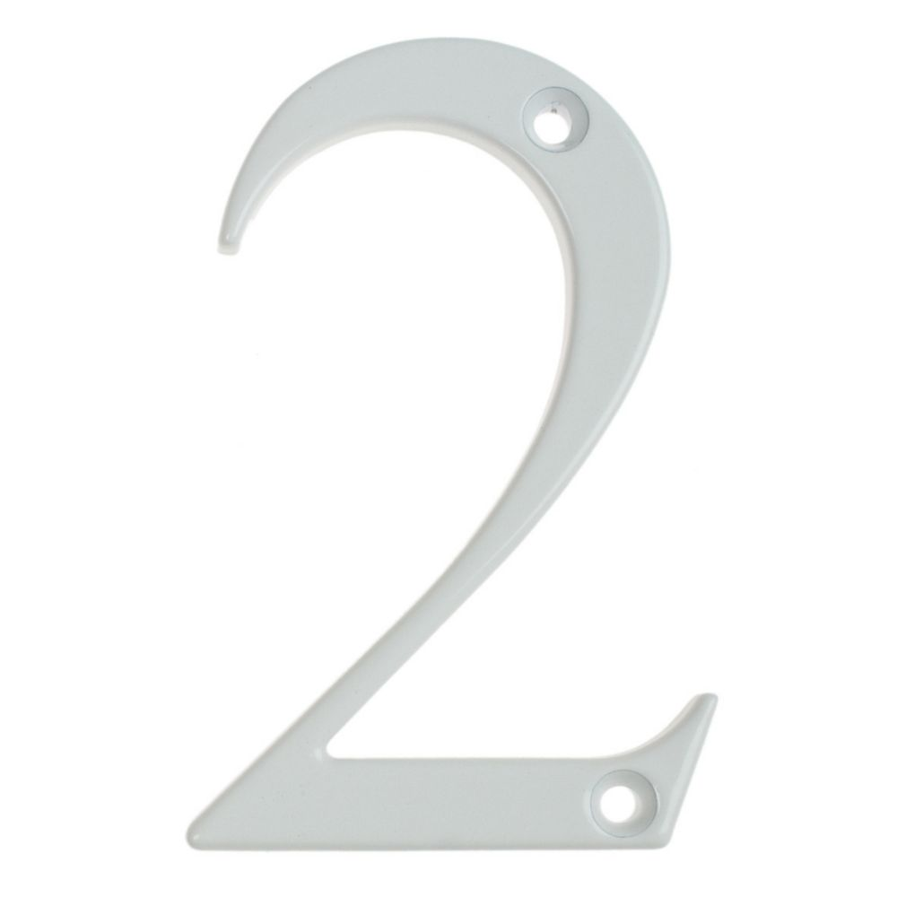 Fab & Fix Door Numeral 2 White 80mm