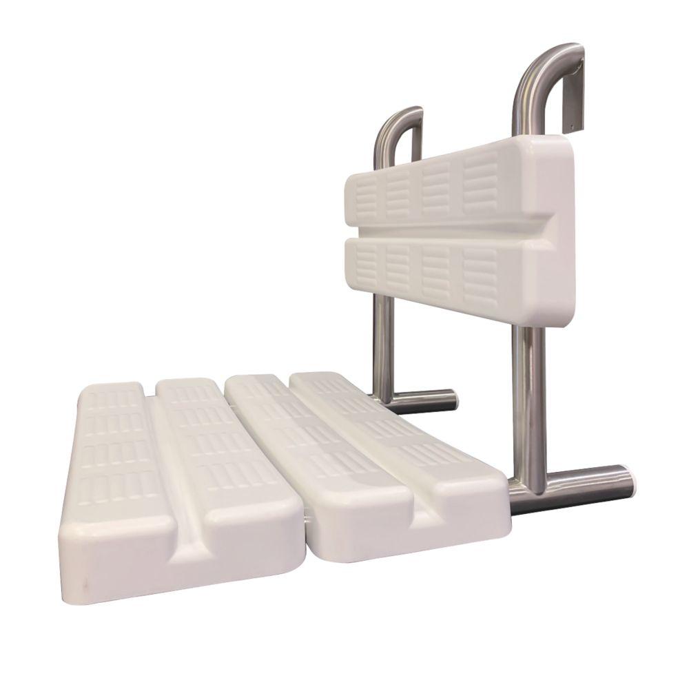 Franke Wall-Mountable Hanging Shower Seat White / Chrome