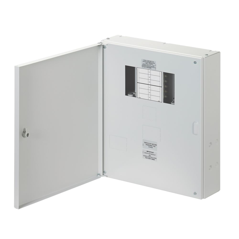 Wylex NH 4-Way Meter Ready 3-Phase Distribution Board
