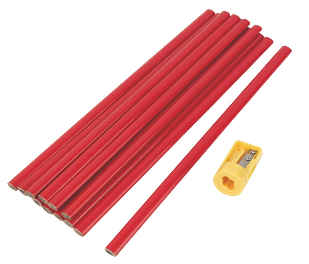 300mm Carpenters Pencils HB 12 Pack