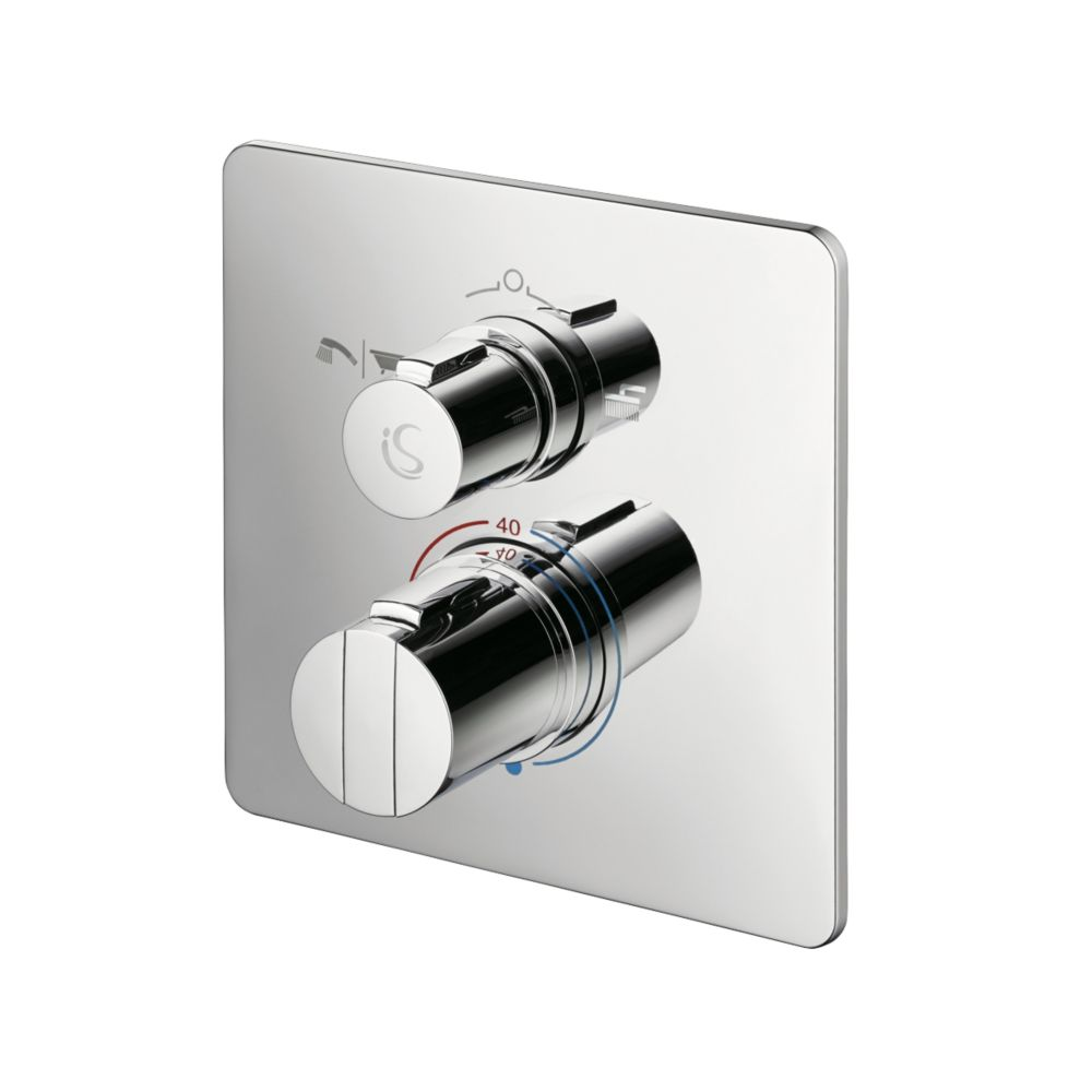 Ideal Standard Concept Easybox Concealed Thermostatic Bath & Shower Mixer Valve Fixed Chrome