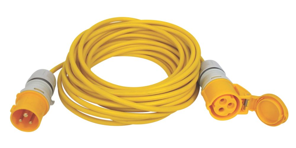 Carroll & Meynell 110V Extension Lead Yellow 1.5mm x 14m