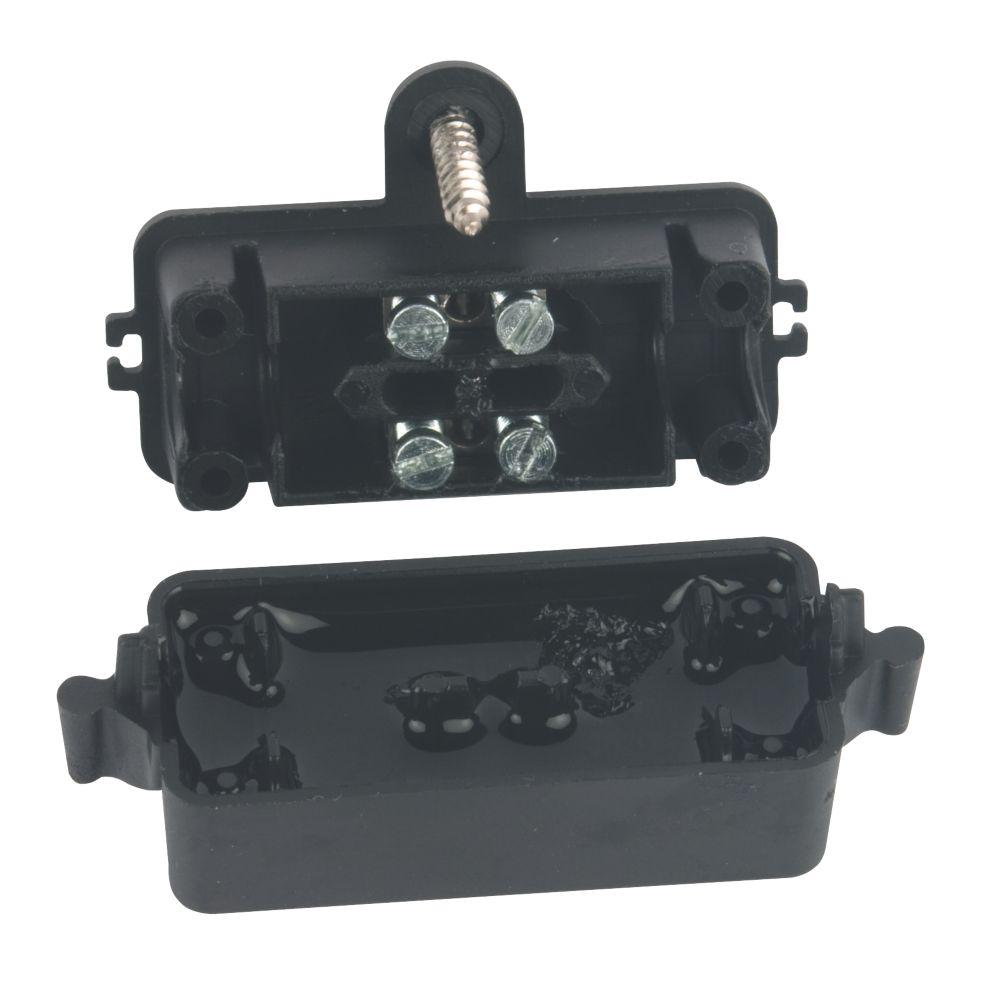 Hylec  2-Entry IP68 Gel In-Line Connector Black