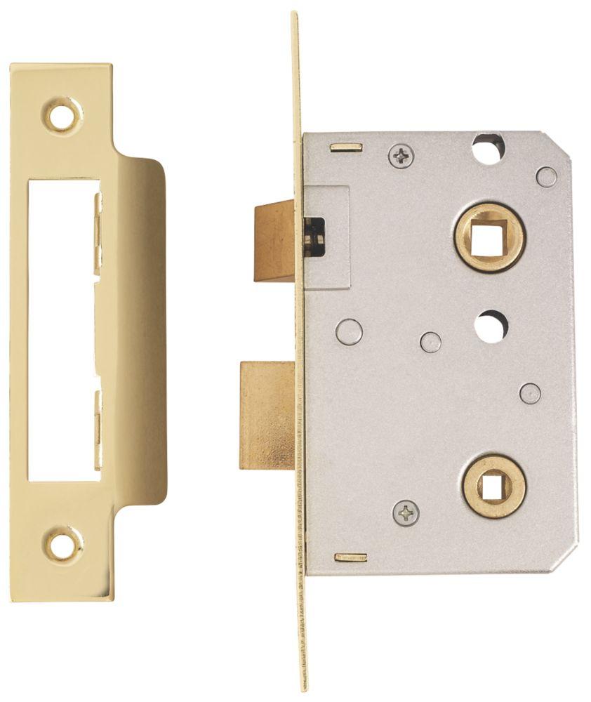 ERA Brass Bathroom Lock 64mm Case - 44mm Backset