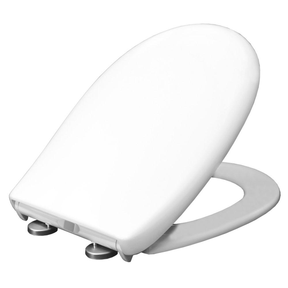 Carrara & Matta Parma Soft-Close with Quick-Release Toilet Seat Thermoset Plastic White
