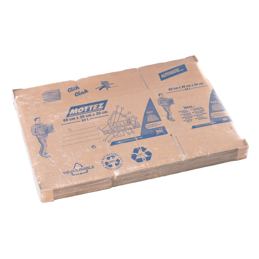 Mottez Moving Boxes 54Ltr 10 Pack