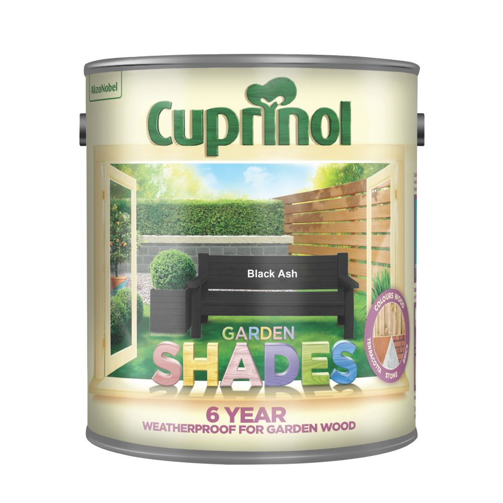 Cuprinol Garden Shades Woodstain Matt Black Ash 2.5Ltr