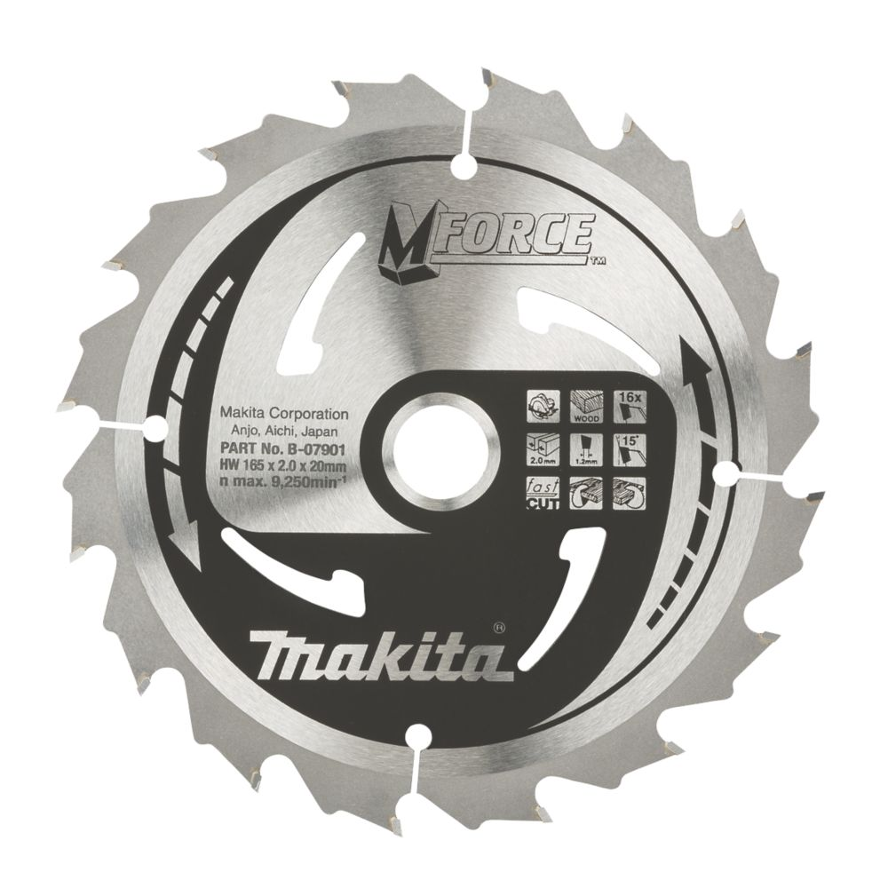 Makita TCT Mitre Saw Blade 165 x 20mm 16T