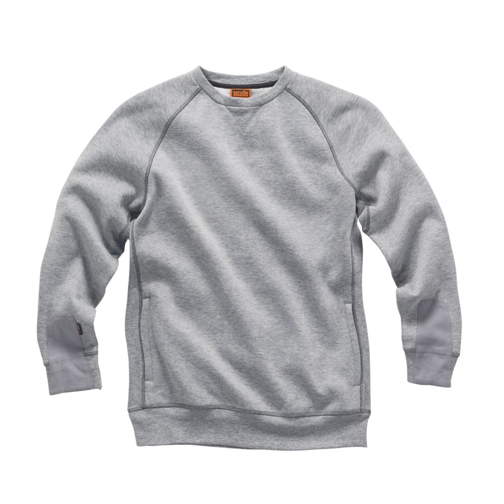 "Scruffs Trade Fleece Sweatshirt Grey Large 44"" Chest"