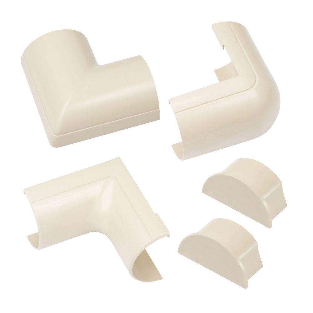D-Line ABS Plastic Magnolia Trunking Accessories 5 Pieces