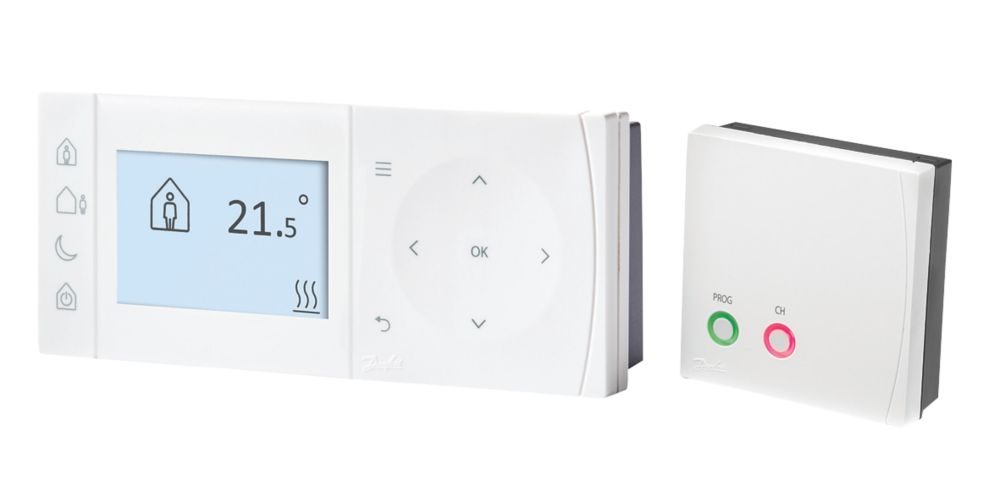 Danfoss TPOne-RF + RX-1S Programmable Thermostat & Receiver
