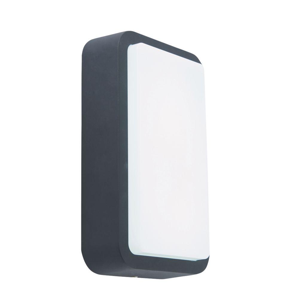 Virtus LED Rectangle Bulkhead Black 8W