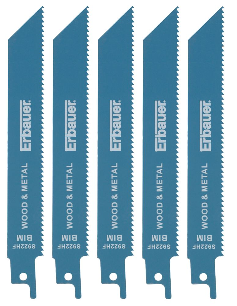 Erbauer S922HF Demolition Reciprocating Saw Blades 130mm 5 Pack