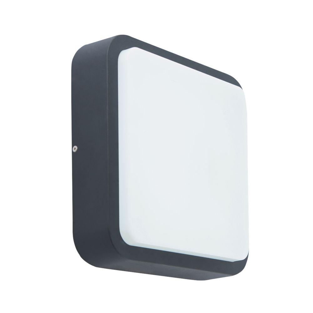 Virtus Square LED Square Bulkhead Black 10W