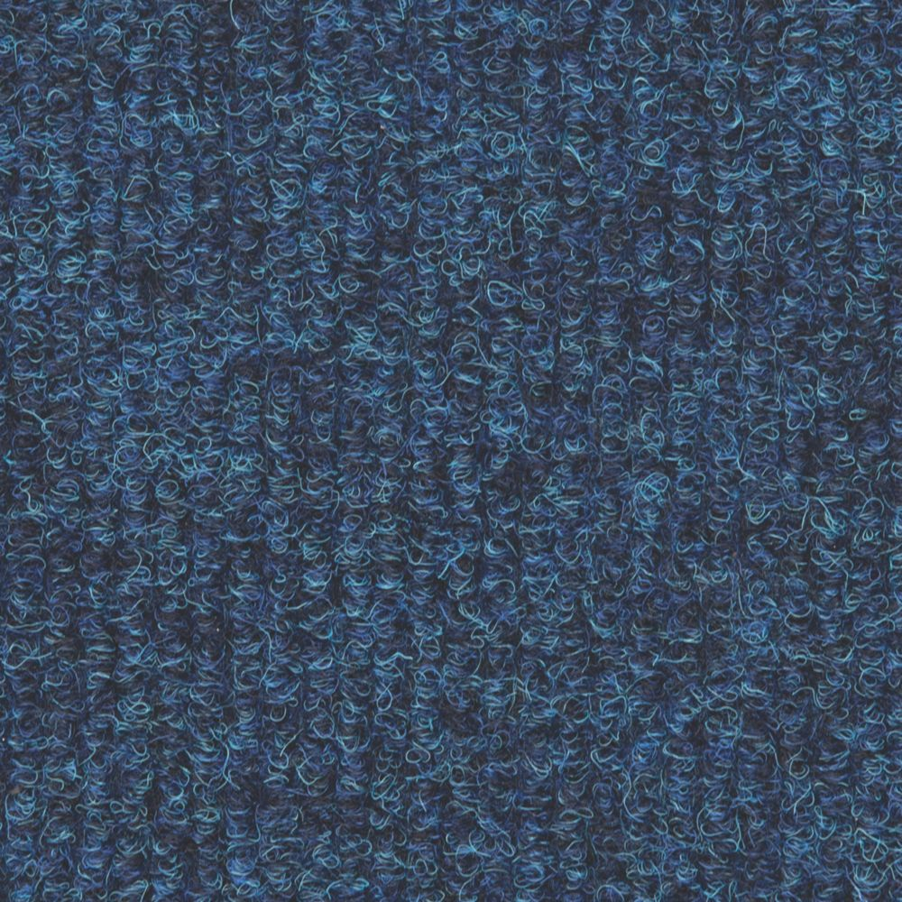 Distinctive Flooring  Ribbed Carpet Tiles Sapphire  16 Pack