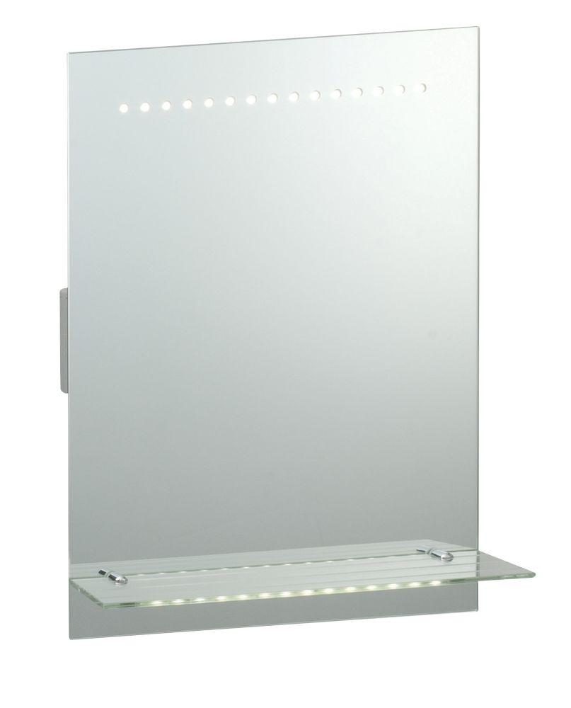 Saxby Omega 2.1W Rectangular LED Bathroom Shaver Mirror 390 x 500mm