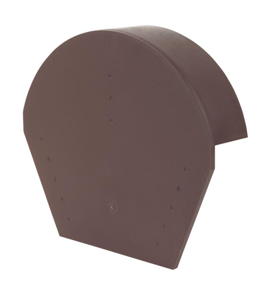 Glidevale Brown Universal Dry Verge Half Round Ridge Caps 2 Pack