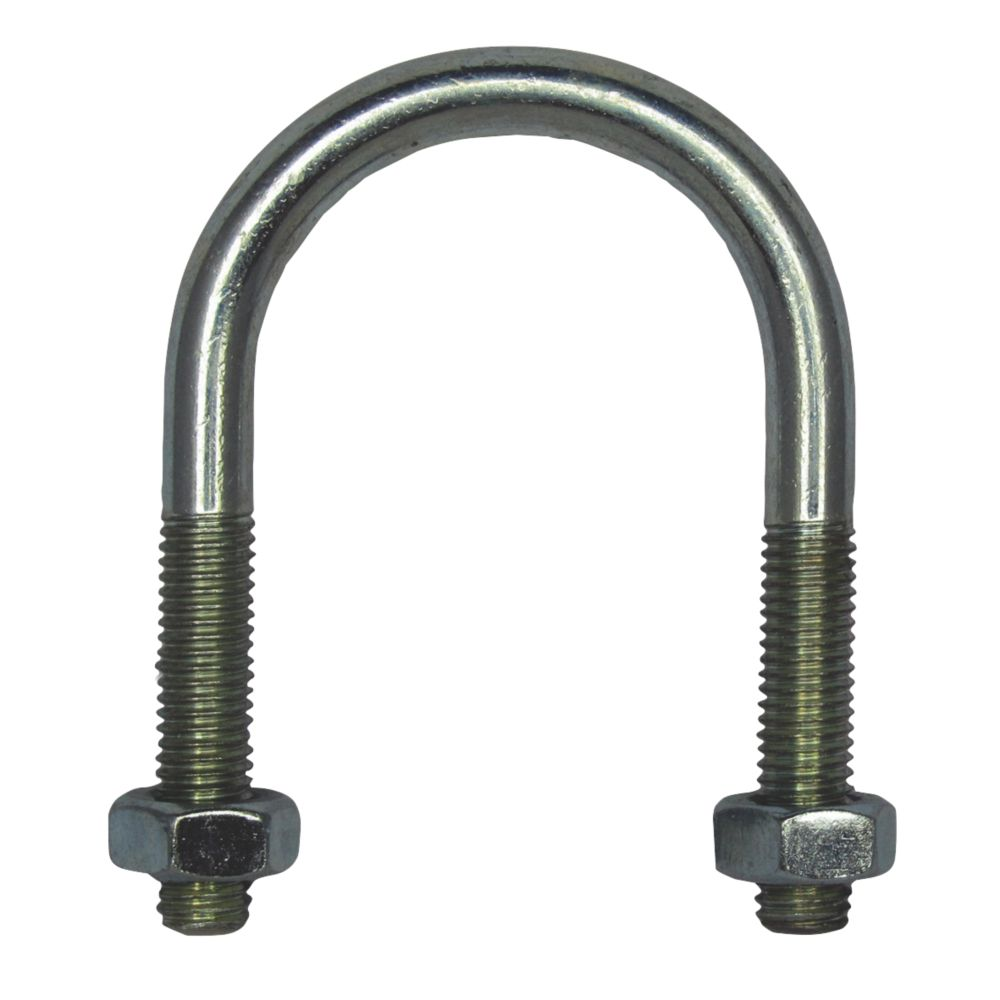 Rawlplug  Bright Zinc-Plated Steel U Bolt M6 x 48mm
