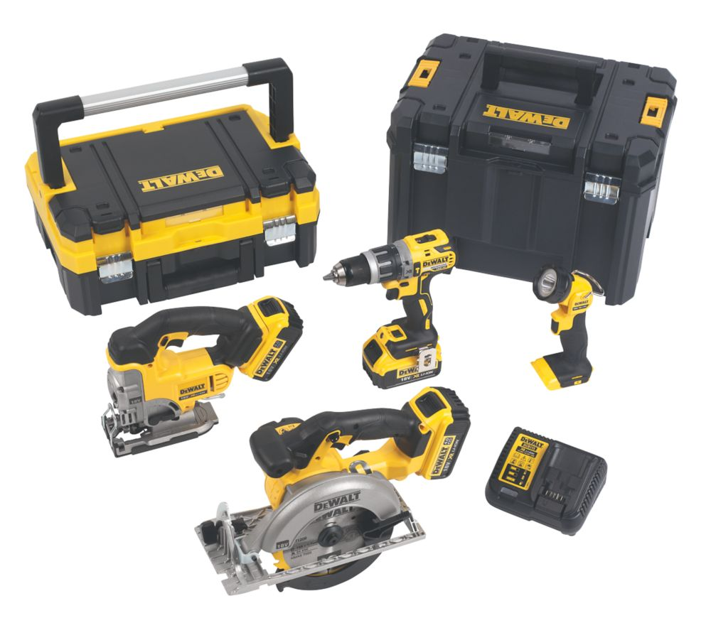 DeWalt DCK457M3T-GB 18V 4.0Ah Li-Ion XR  Cordless 4-Piece Power Tool Kit