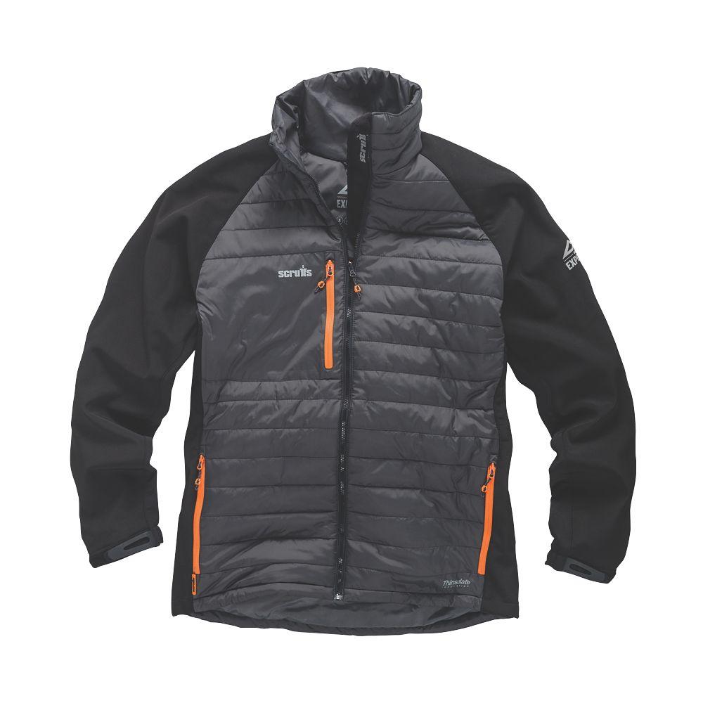 "Scruffs Expedition Thermo Softshell Jacket Graphite/Black Medium 44"" Chest"