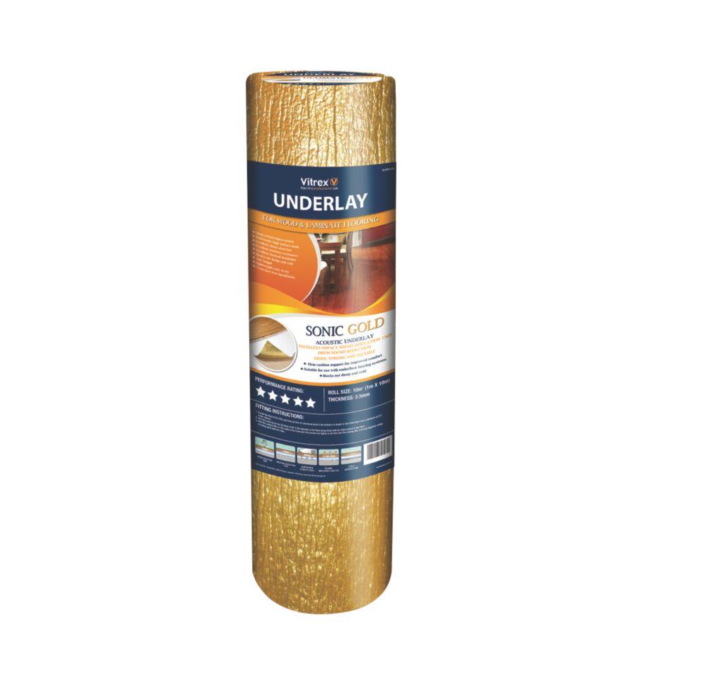 Vitrex Sonic Gold Acoustic Wood & Laminate Underlay 2.5mm 10m²