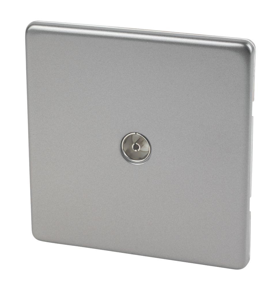 Varilight  Coaxial TV Socket Slate Grey