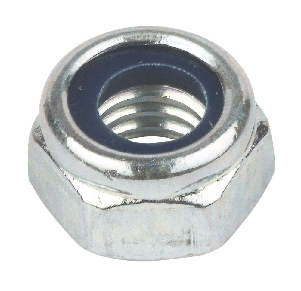 Easyfix BZP Steel Nylon Lock Nuts M5 100 Pack