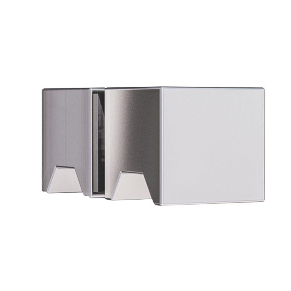 Aqualux Edge 8 Square Shower Door Knob Chrome 25mm Single