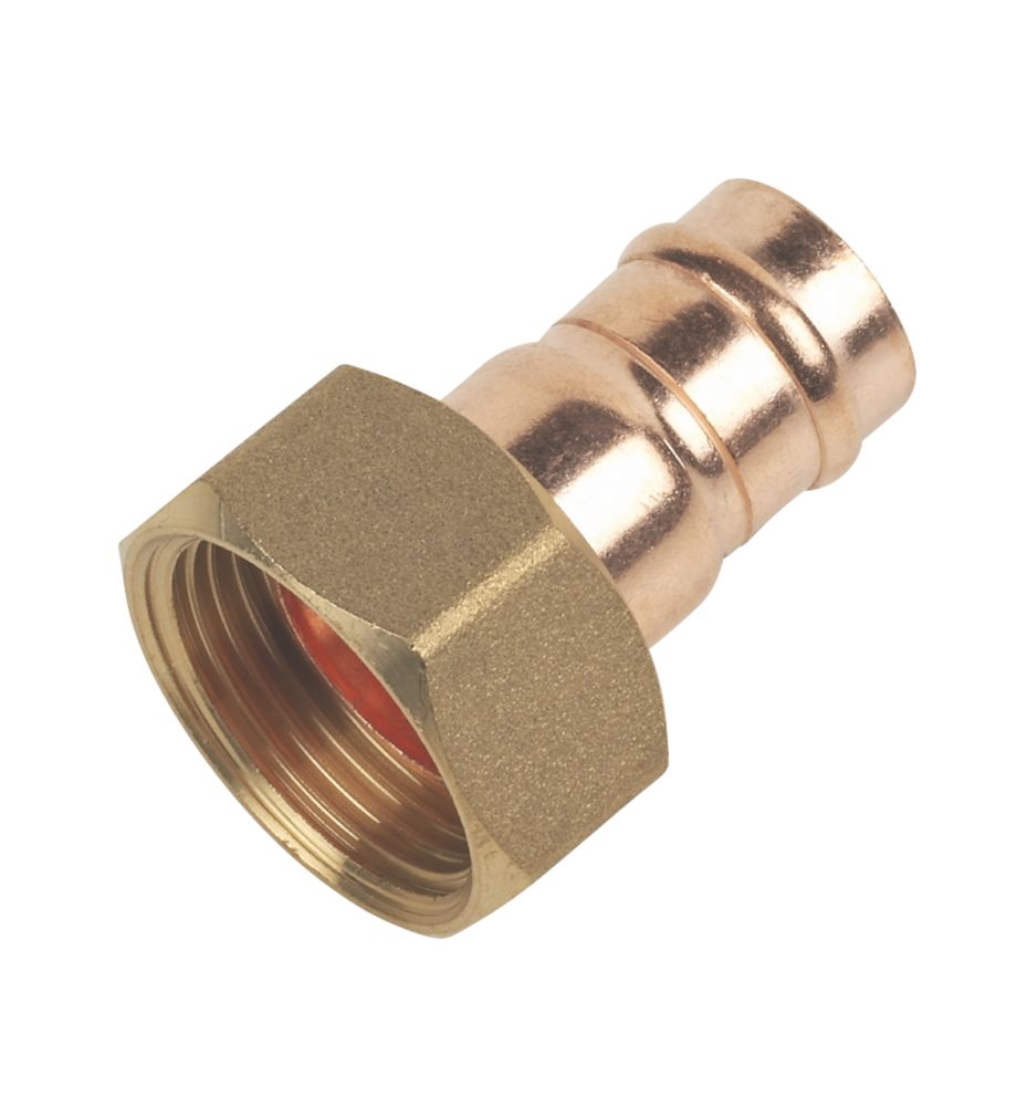 """Solder Ring Straight Tap Connectors 15mm x ¾"""" 2 Pack"""