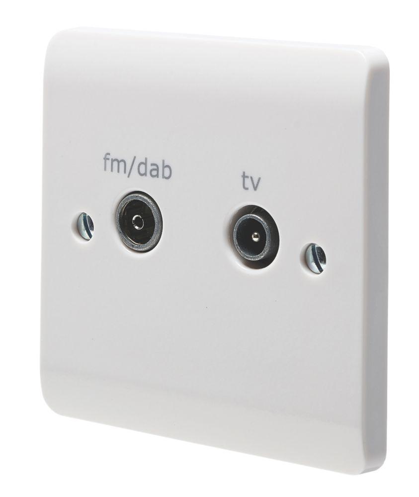 Crabtree Instinct 1-Gang Duplex Multimedia Socket White