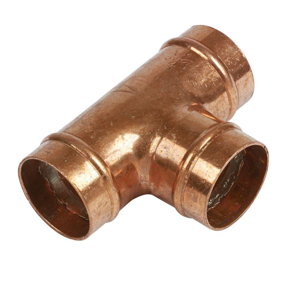 Yorkshire  Copper Solder Ring Equal Tee 28mm