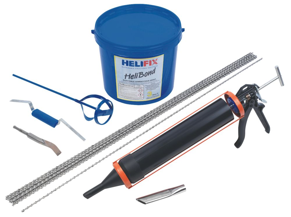 HeliFix Crack Stitching Kit Grout 1.04m x 300mm
