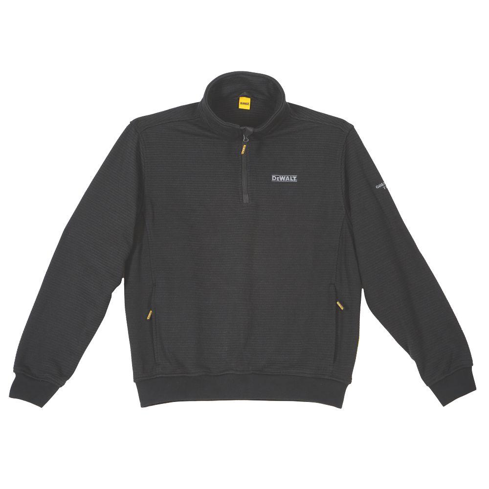 "DeWalt Laurel  ¼ Zip Sweater Black XX Large 48-50"" Chest"