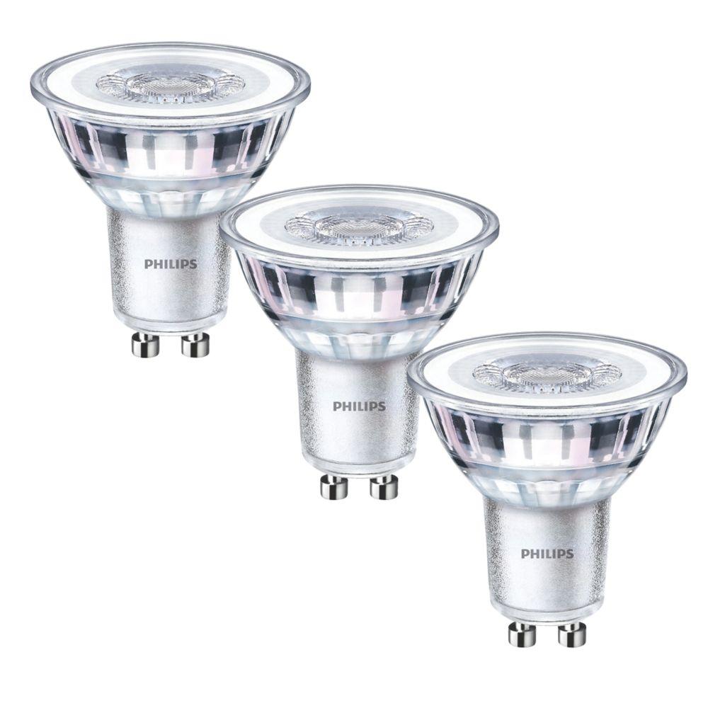 Philips   GU10 LED Light Bulb 275lm 3.5W 3 Pack