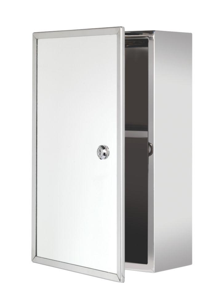 Croydex  Lockable 1-Door Bathroom Medicine Cabinet   250 x 130 x 400mm
