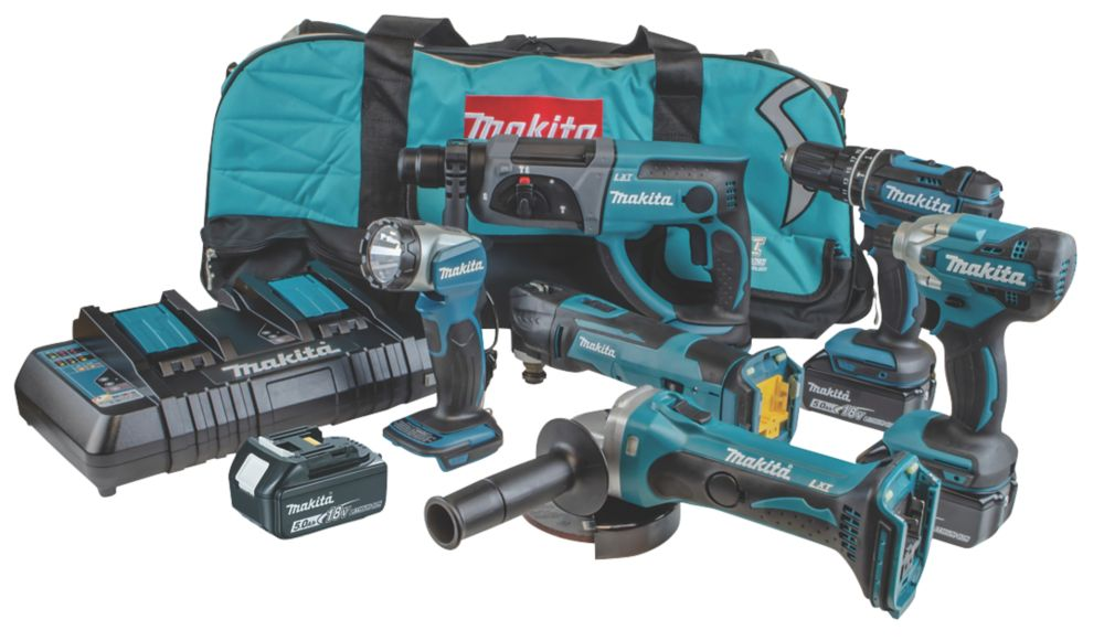 Makita DLX6100PX1 18V 3.0Ah Li-Ion LXT Cordless 6 Piece Kit