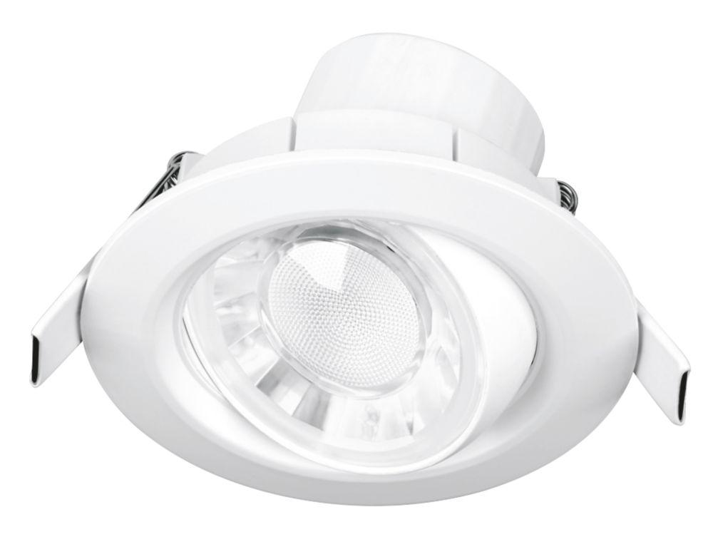 Aurora Spryte Adjustable  LED Downlight White 570lm 8W 240V
