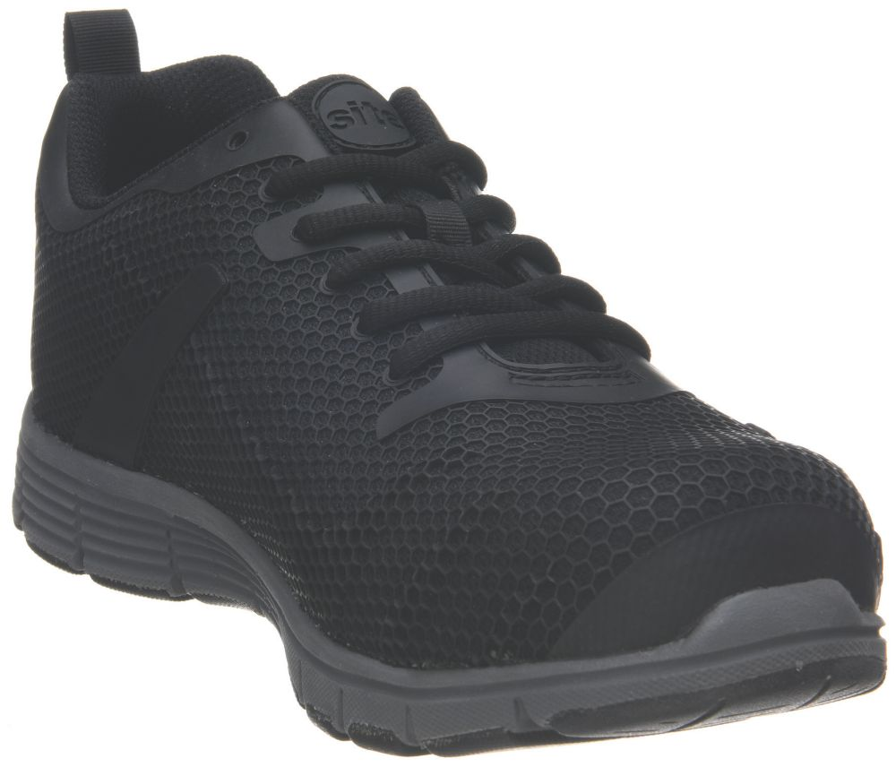 Site Donard   Safety Trainers Black Size 12