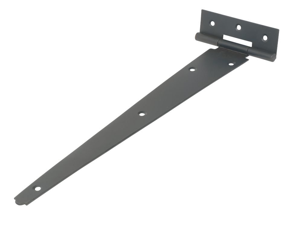 Black Powder-Coated Light Duty Tee Hinge 305mm 2 Pack