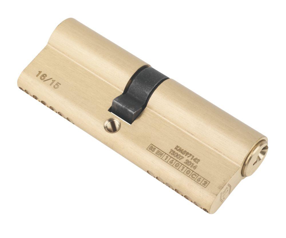 Smith & Locke  1* 6-Pin Double Euro Cylinder Lock 40-45 (85mm) Polished Brass
