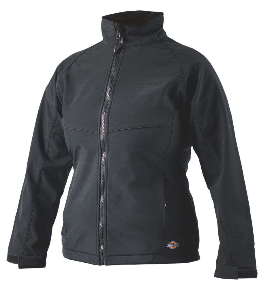 Dickies Foxton Ladies Softshell Jacket Black Size 12-14