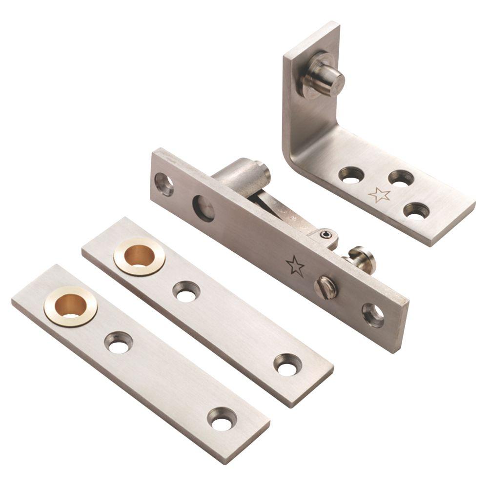 Eurospec Satin Stainless Steel Grade 11 Thrust Bearing Pivot Hinge 130 x 25mm