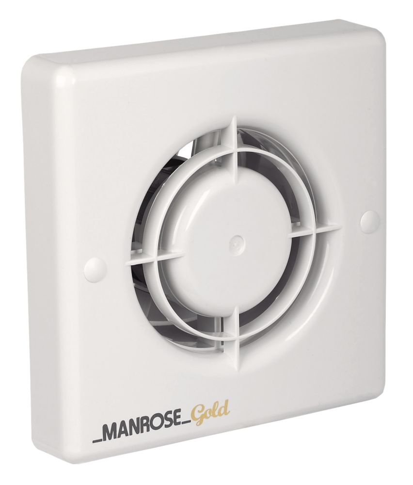 Manrose MG100S 12W Bathroom Extractor Fan  White 240V