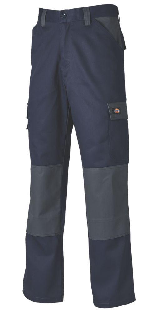 "Dickies Everyday Work Trousers Navy / Grey 30"" W 31"" L"