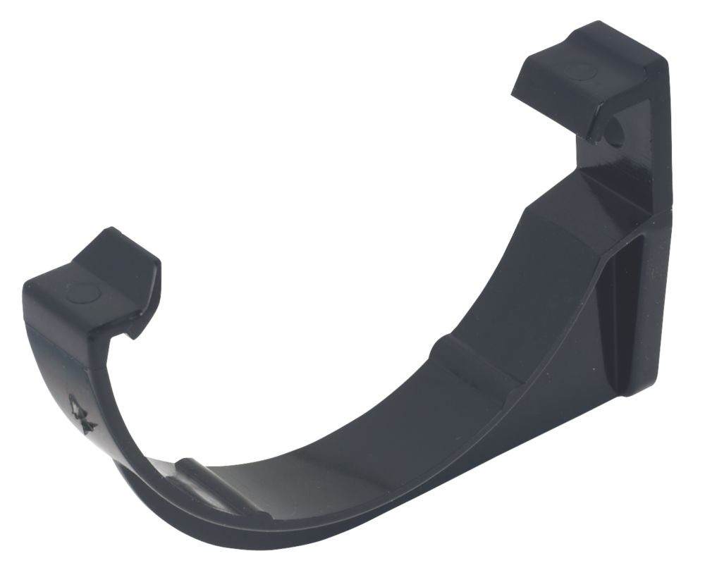 FloPlast Mini Line Fascia Bracket 76mm Black 10 Pack