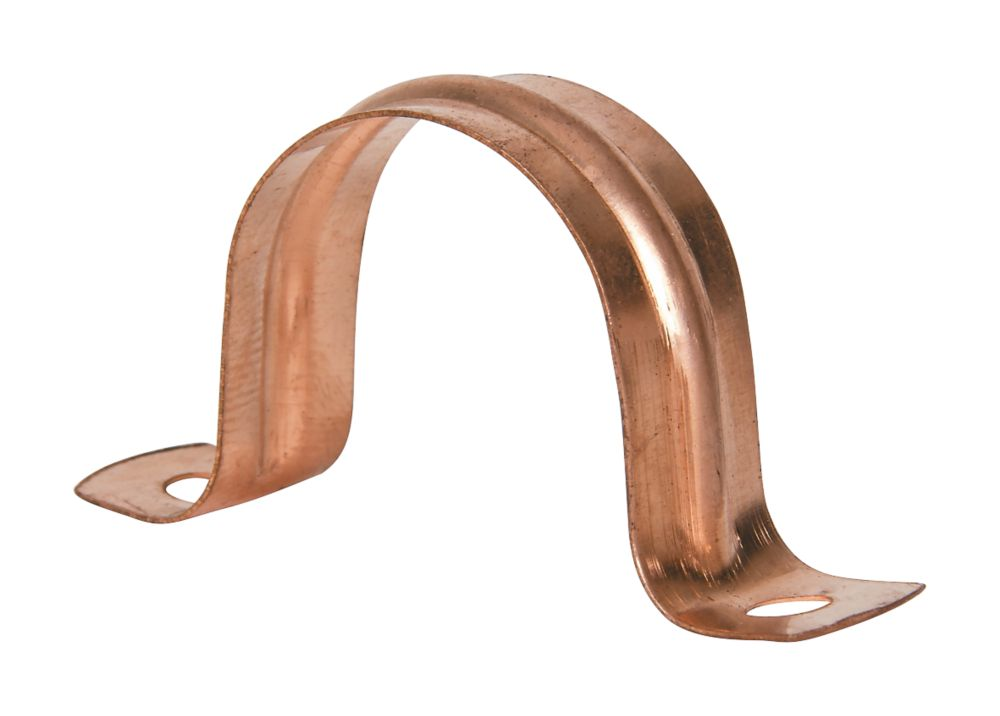 28mm Pipe Clips Copper 5 Pack